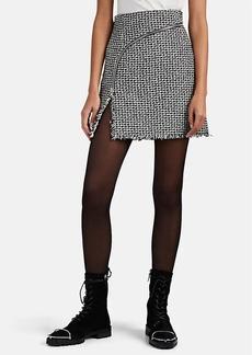 Alexander Wang Women's Abstract-Houndstooth Bouclé Tweed Miniskirt