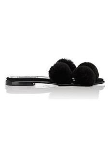 Alexander Wang Women's Ava Suede & Fur Slide Sandals