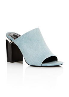 Alexander Wang Women's Avery Open Toe Denim High-Heel Sandal