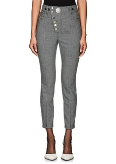 Alexander Wang Women's Button-Detail Houndstooth Trousers