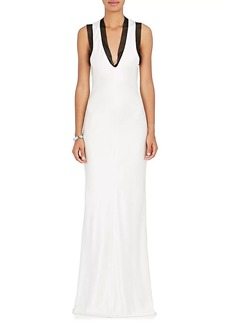 Alexander Wang Women's Chain-Mail-Embellished Charmeuse Gown