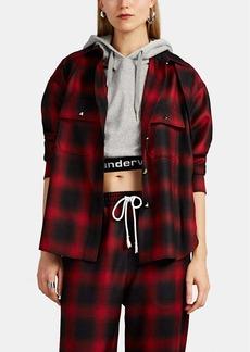 Alexander Wang Women's Convertible Plaid Wool Shirt
