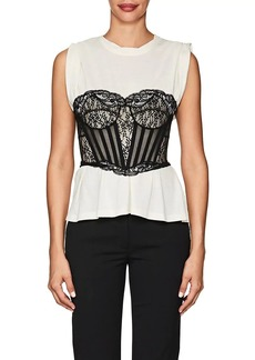 Alexander Wang Women's Corset-Layered Cotton Tank