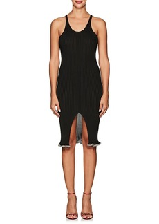 Alexander Wang Women's Crystal-Embellished Ribbed Tank Dress