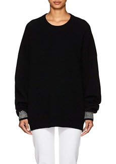 Alexander Wang Women's Crystal-Embellished Wool-Blend Sweater