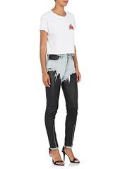 Alexander Wang Women's Cutoff Denim & Leather Leggings