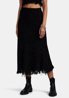 Alexander Wang Women's Fringed Bouclé Tweed Midi-Skirt
