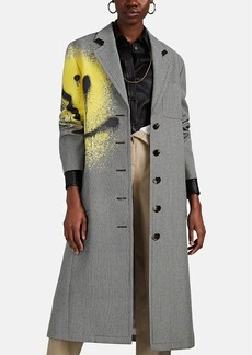Alexander Wang Women's Graffiti-Smiley Houndstooth Long Coat