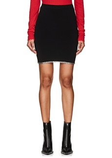 Alexander Wang Women's Grommet-Embellished Compact Knit Miniskirt