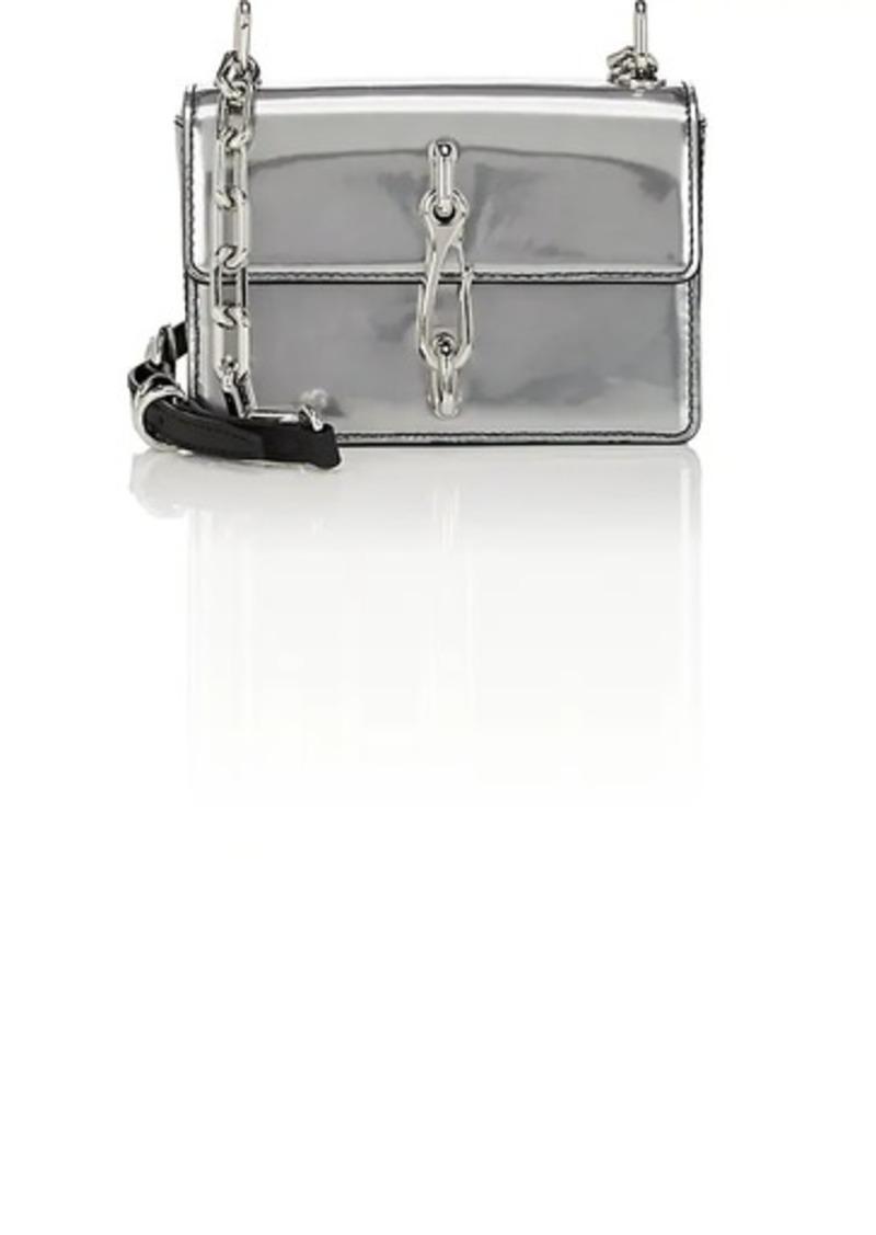 Alexander Women S Hook Small Leather Crossbody Bag Silver