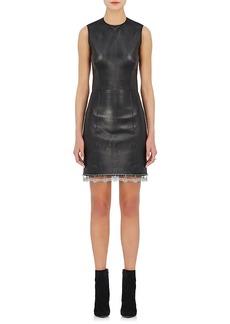 Alexander Wang Women's Leather Fitted Sheath Dress