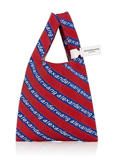Alexander Wang Women's Logo Knit Shopping Tote Bag - Red, Blue, White