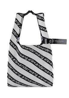 Alexander Wang Women's Logo Knit Shopping Tote Bag - Wht.&blk.