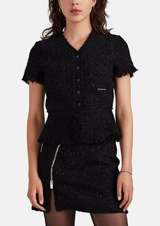 Alexander Wang Women's Metallic Wool-Blend Tweed Short-Sleeve Jacket
