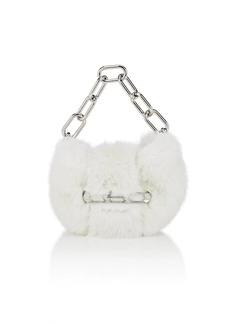 Alexander Wang Women's Micro Mini Mink Fur Clutch - Gray