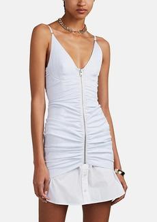 Alexander Wang Women's Pinstriped Ruched Poplin Cami Dress