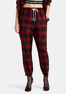 Alexander Wang Women's Plaid Wool Jogger Pants