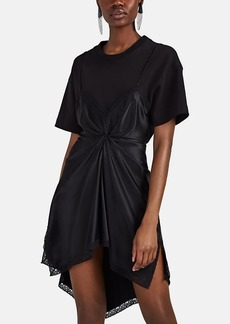 Alexander Wang Women's Satin Slip & Jersey T-Shirt Dress