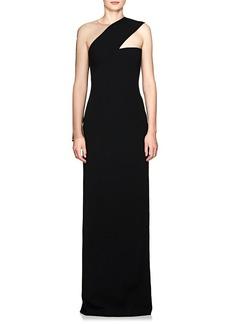 Alexander Wang Women's Sheer-Sleeve Cady Gown