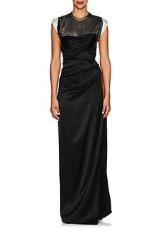 Alexander Wang Women's Side-Slit Silk Satin Gown