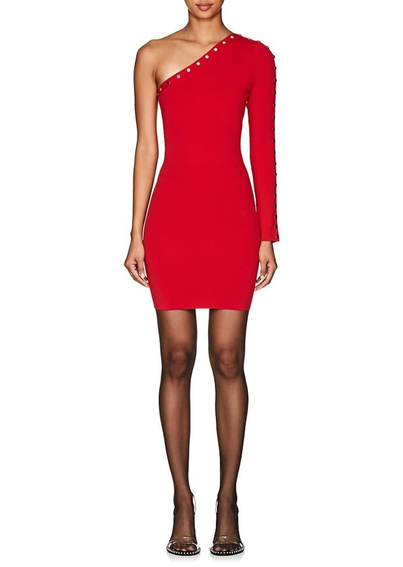 Alexander Wang Women's Snap-Detail One-Sleeve Minidress