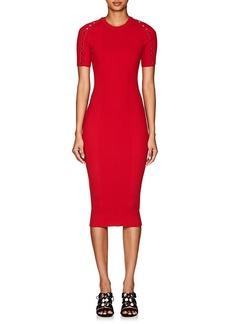 Alexander Wang Women's Snap-Detail Rib-Knit Cotton-Blend Dress