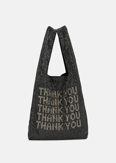 """Alexander Wang Women's Wanglock """"Thank You"""" Mini Shopper Tote Bag - Black"""