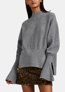 Alexander Wang Women's Wool-Blend Flounce-Sleeve Sweater