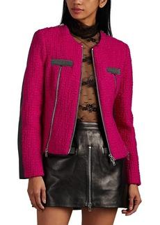 Alexander Wang Women's Wool Tweed & Leather Moto Jacket