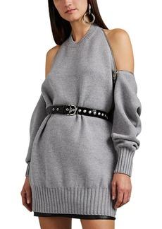 Alexander Wang Women's Zip-Detailed Merino Wool Sweater