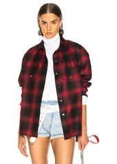 Alexander Wang Wool Button Off Flannel