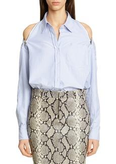 Alexander Wang Zip Cold Shoulder Shirt