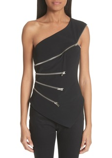 Alexander Wang Zip Detail One Shoulder Top