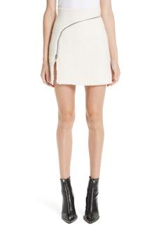 Alexander Wang Zip Detail Tweed Miniskirt