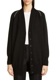 Alexander Wang Zip Shoulder Merino Wool Cardigan