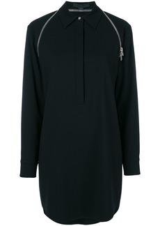Alexander Wang zip-trimmed shirt dress - Black