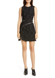 Alexander Wang Zipper Detail Tweed Minidress