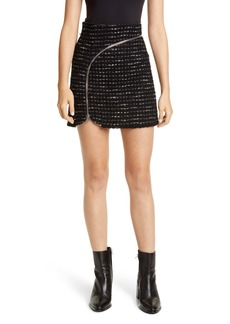Alexander Wang Zipper Detail Tweed Miniskirt