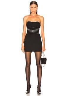 Alexander Wang Zipper Waist Bustier Dress