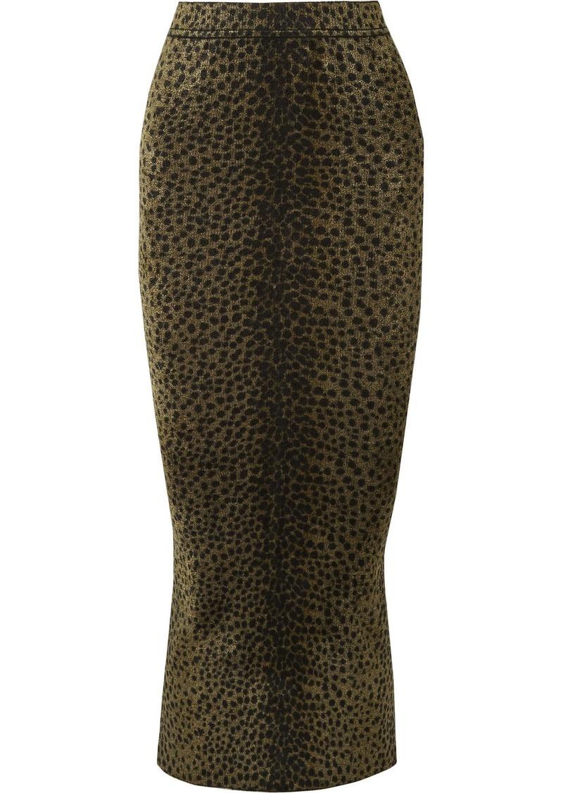 Alexander Wang Animal-print Chenille Midi Skirt