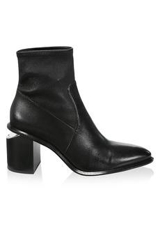Alexander Wang Anna Rhodium & Stretch-Leather Sock Boots