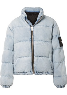 Alexander Wang Appliquéd Quilted Denim Jacket