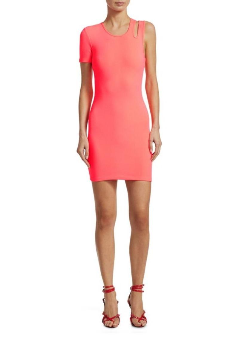 Alexander Wang Asymmetric Bodycon Mini Dress