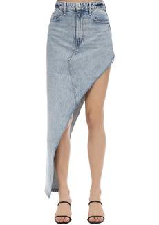 Alexander Wang Asymmetric Cotton Denim Skirt