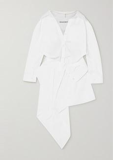 Alexander Wang Asymmetric Cotton-poplin Shirt Dress