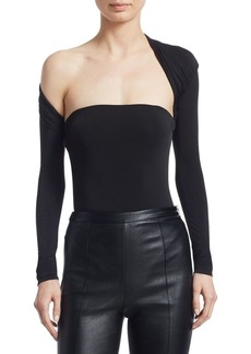 Alexander Wang Asymmetric Draped Bodysuit