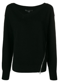 Alexander Wang asymmetric size-zip sweater