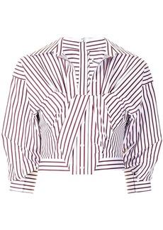 Alexander Wang asymmetric striped shirt