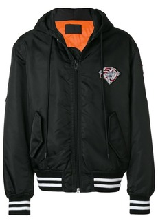 Alexander Wang athletic patch hooded bomber jacket