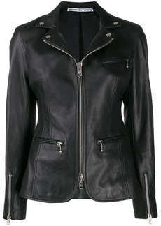 Alexander Wang ball-chain biker jacket